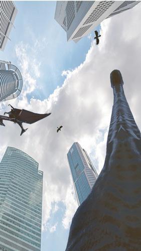 街の中の恐竜